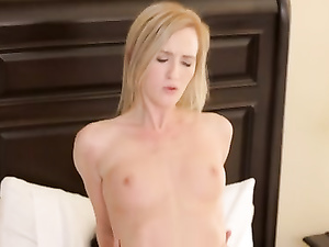 Small titted Skylar Green takes big love machine