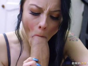Skinny brunette passionately fucks to not get evicted